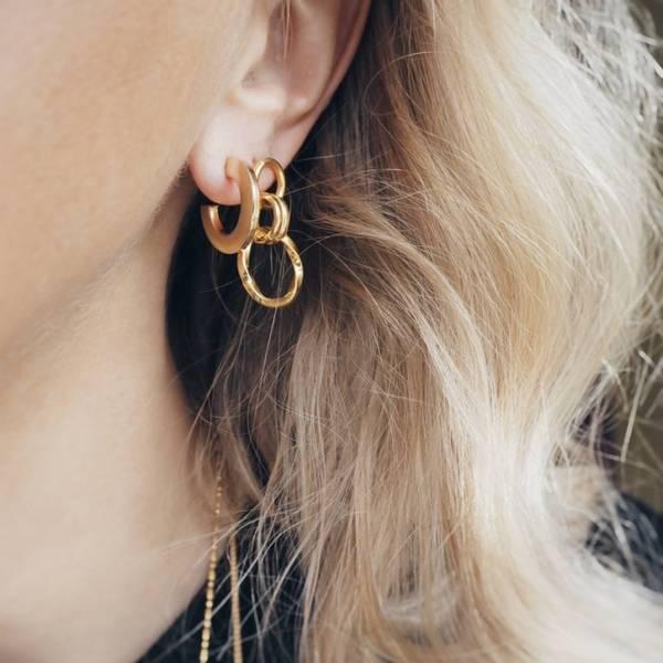 Bilde av HASLA FACES OBSERVE EARRINGS GOLD