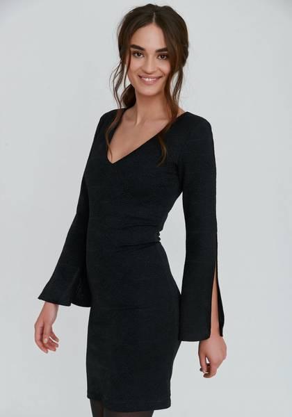 Bilde av DRY LAKE TORA DRESS BLACK LUREX
