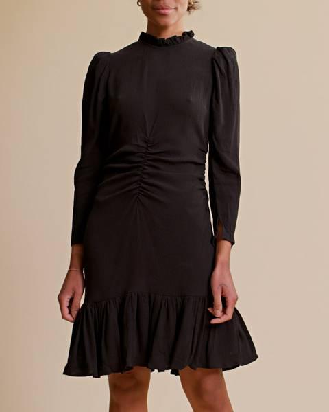 Bilde av byTIMO BUBBLE VISCOSE MINI DRESS BLACK