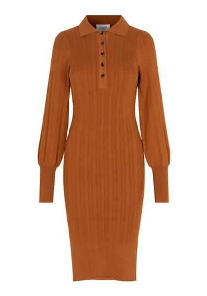 Bilde av SECOND FEMALE CANILLU KNIT DRESS ARGAN OIL