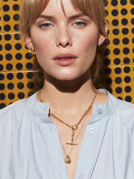 Bilde av JANE KØNIG Salon Cuff, forgylt sterlingsølv