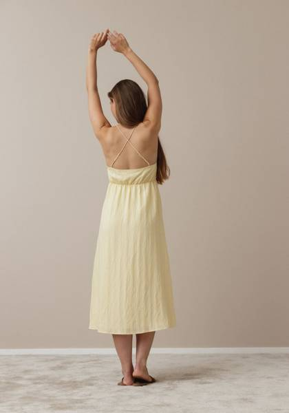 Bilde av DRY LAKE APPLE DRESS YELLOW JAQUARD